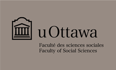 Faculty of Social Sciences black horizontal logo on grey background