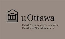 Faculty of Social Sciences black horizontal logo on grey background