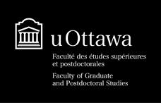 Logo horizontal de la Faculté des études supérieures et postdoctorales en blanc sur fond noir