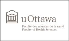 Logo horizontal de la Faculté des sciences de la santé en gris foncé sur fond blanc