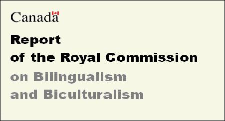 Rapport de la Commission royale d'enquête sur le bilinguisme