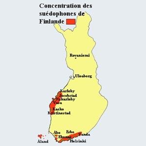 Carte de la Finlande - Version française