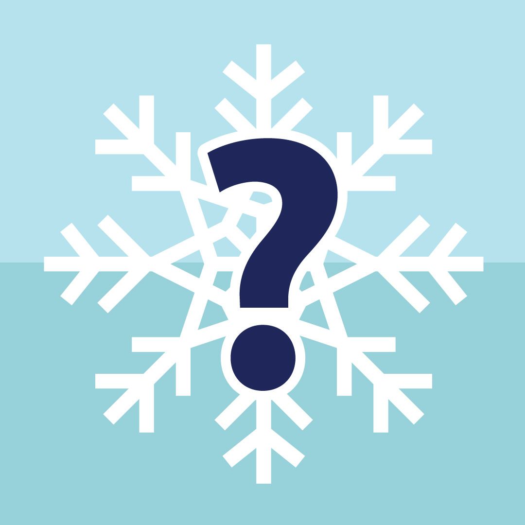 Snowflake with question mark