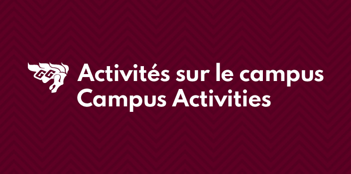 "GG Logo and ""Campus activities"" text"