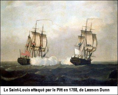 Le saint louis attaqué par le Pitt