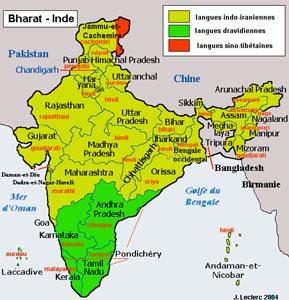 Carte Inde Langues.Inde Reglements Sur Les Langues Officielles De 1976