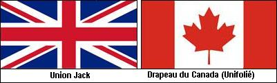 Union Jack and Canada flags