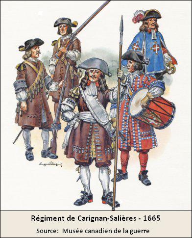 Régiment Carignan-Salieres 1665