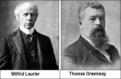 Wilfrid Laurier et Thomas Greenway