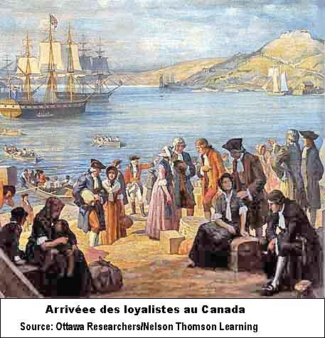 Arrivée des loyalistes au Canada