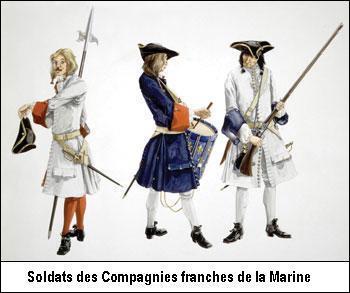 Soldats des compagnies franches de la Marine