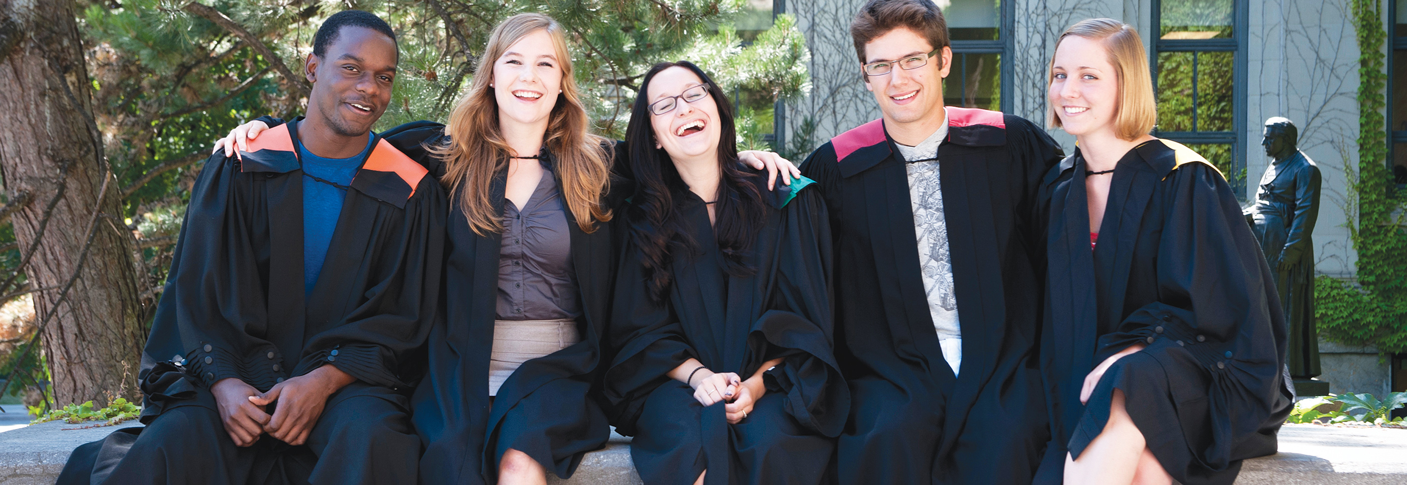 Graduating students who are celebrating at convocation