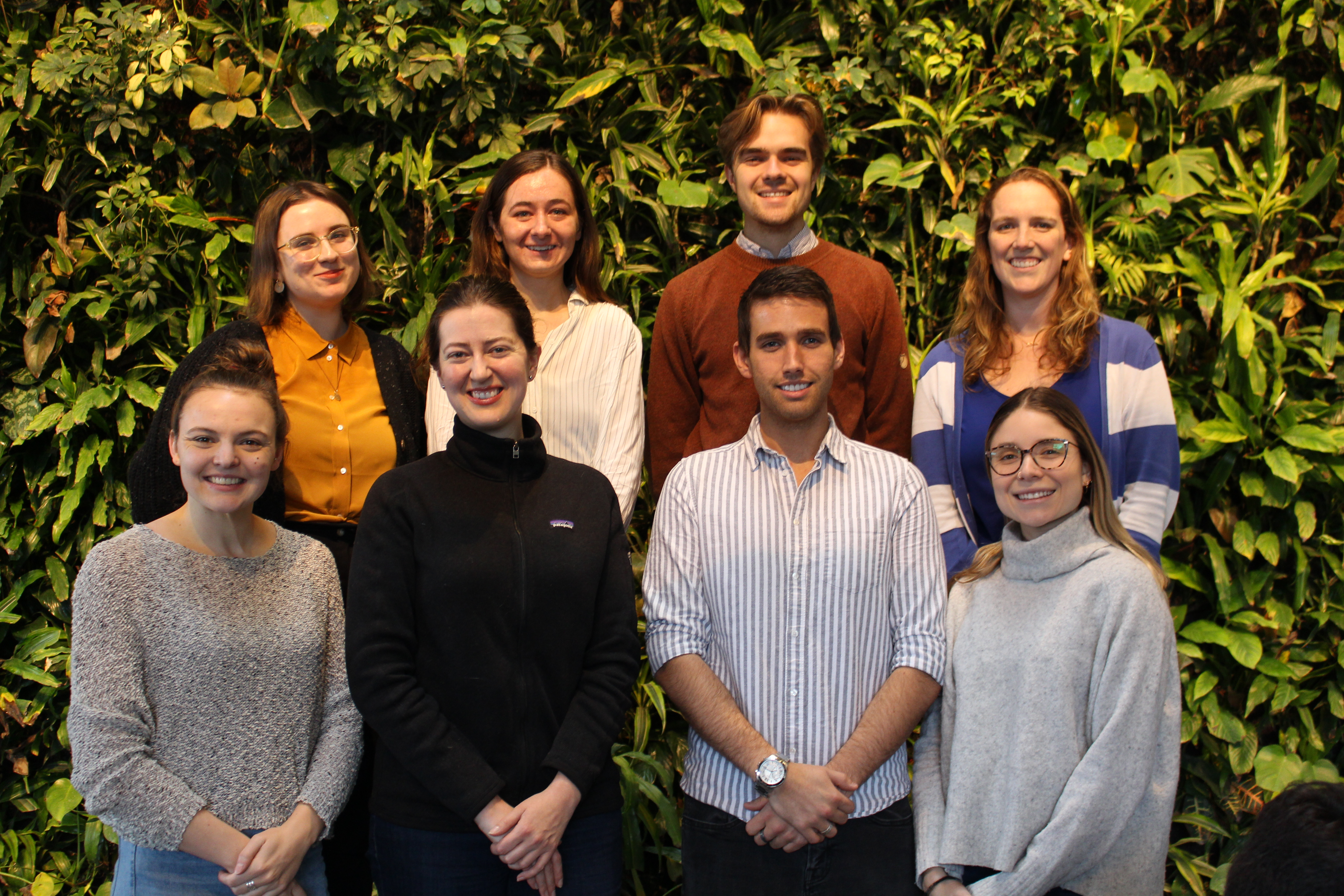 Students in the Master of Science in Environmental Sustainability program who have been awarded the Smart Prosperity Institute (SPI) Fellowship, or a SPI Research Assistantship. Top row from the left: Natalie Stutt-Wiebe, Catherine Christofferson, Andrew
