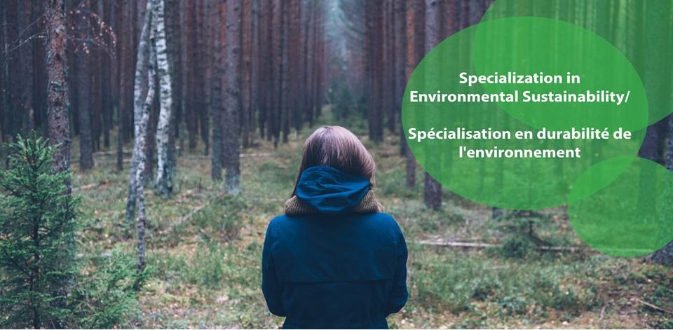 Specialization in environmental sustainability slider
