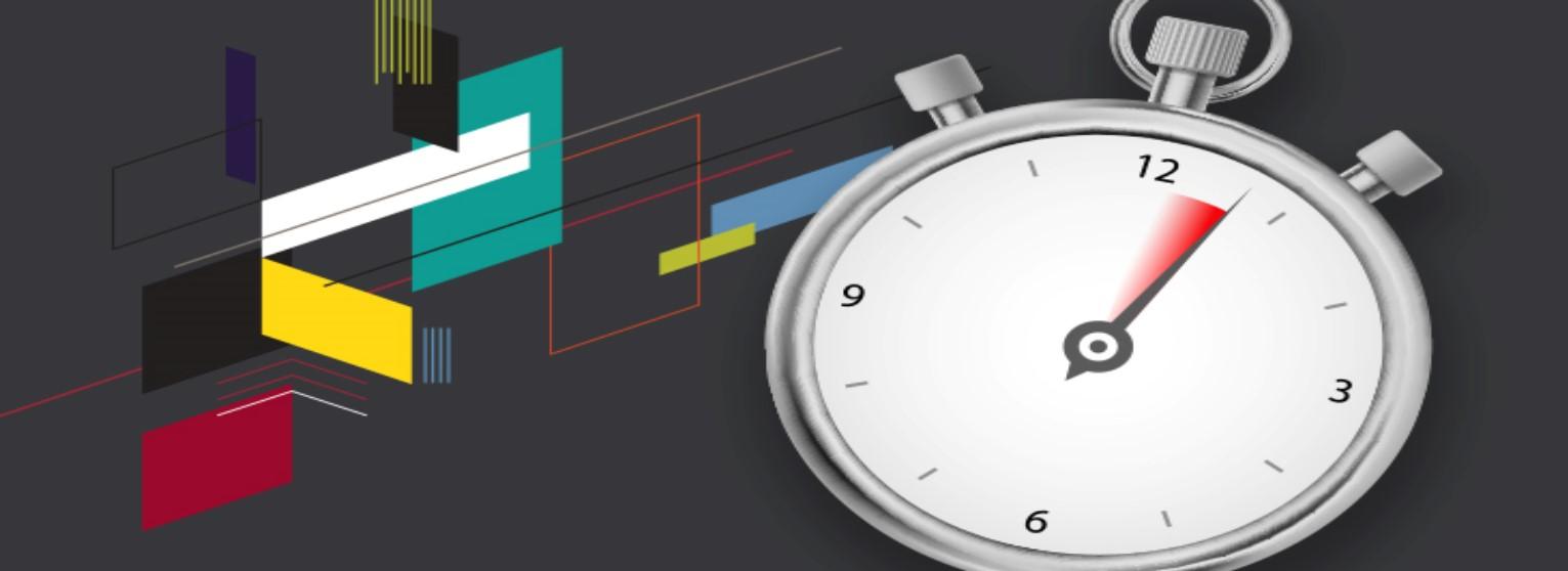 Chronomètre sur fond gris