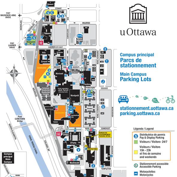Carte des parcs de stationnements