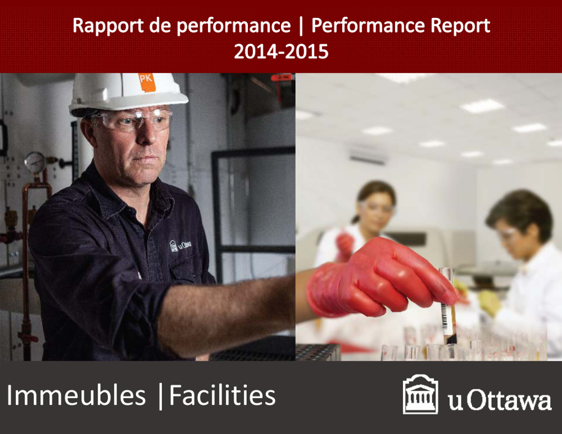Cover of the 2014-2015 Facilities performance report
