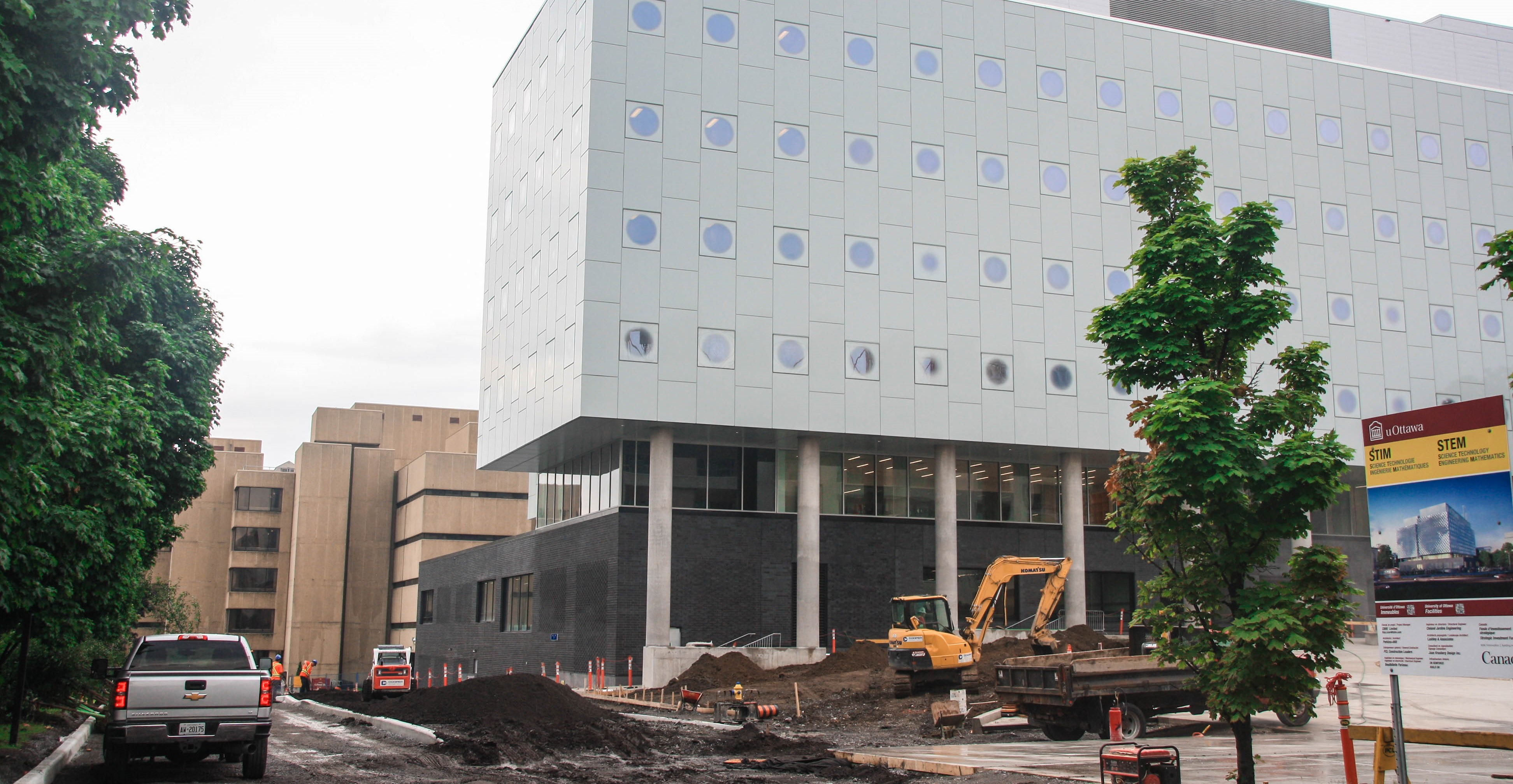 Construction of the uOttawa STEM complex