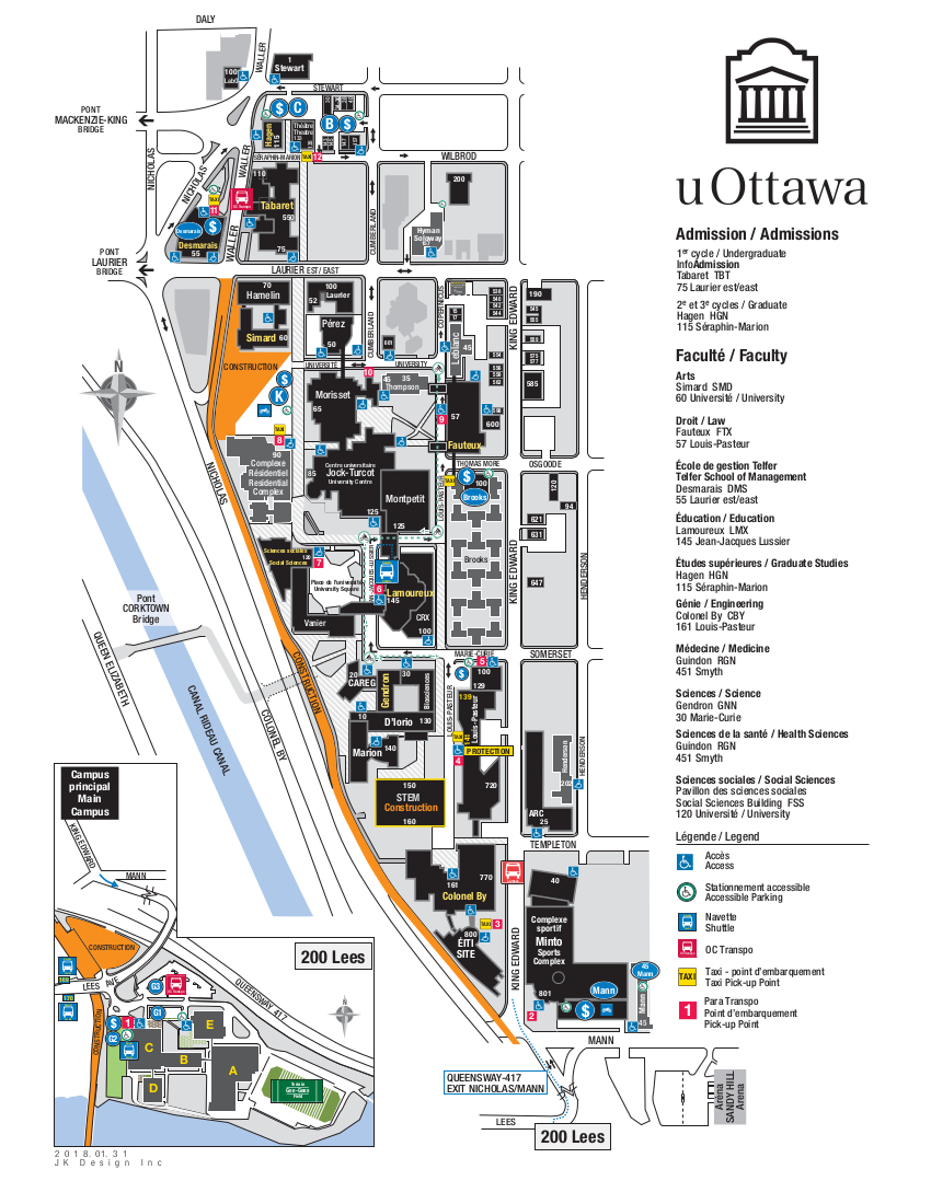 University Of Ottawa Map PDF Maps | Facilities | University of Ottawa