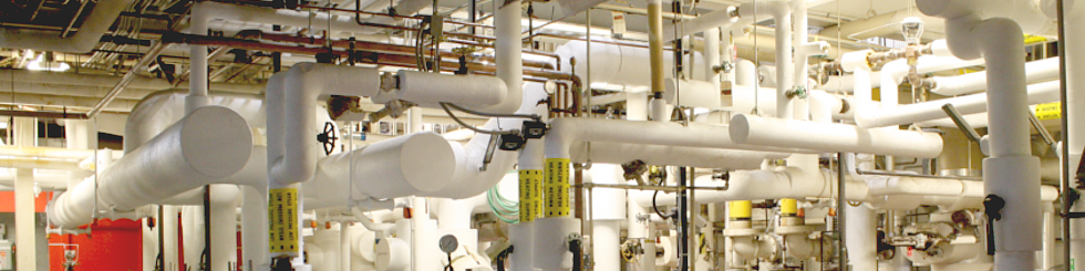 Water pipes in the uOttawa power plant