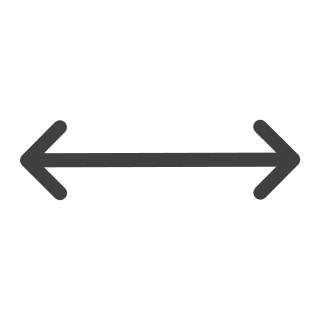 Arrow pointing in both directions to demonstrate end-to-end simplification
