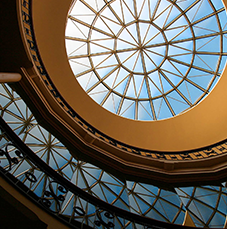 Rotunda dome in Tabaret Hall.