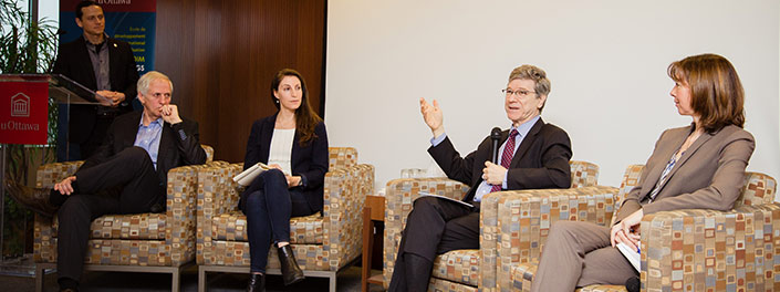 UOttawa professors and student discuss universities' roles in implementing SDGs with Jeffrey Sachs