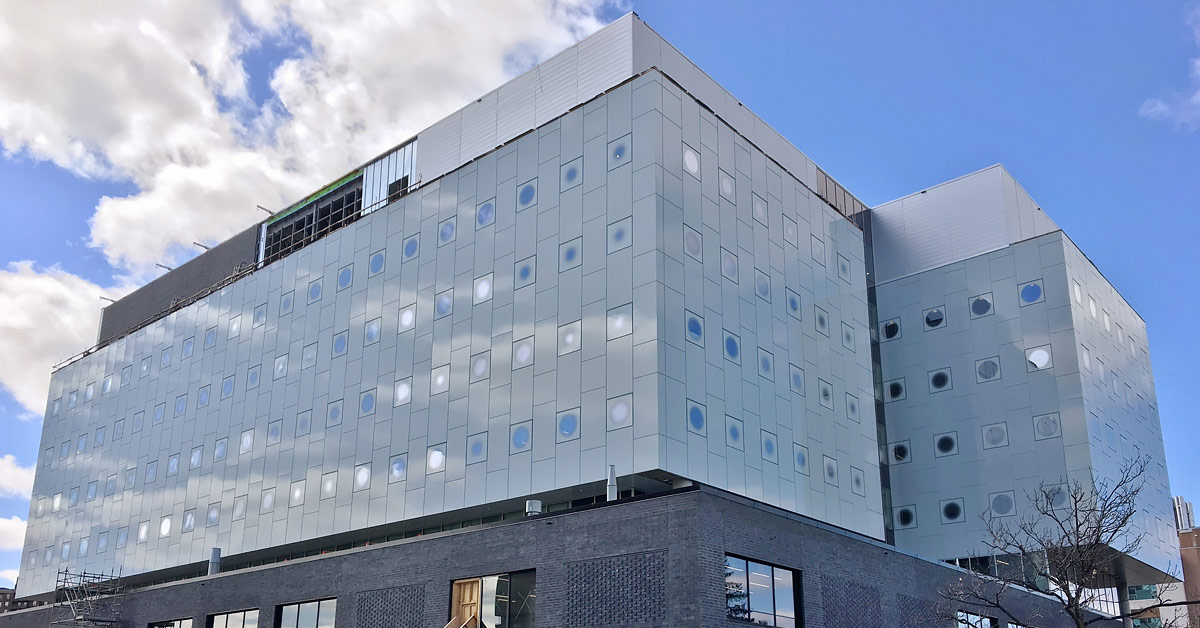 The new STEM building.