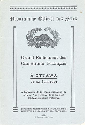 Programme officiel du Grand ralliement des Canadiens-Français.