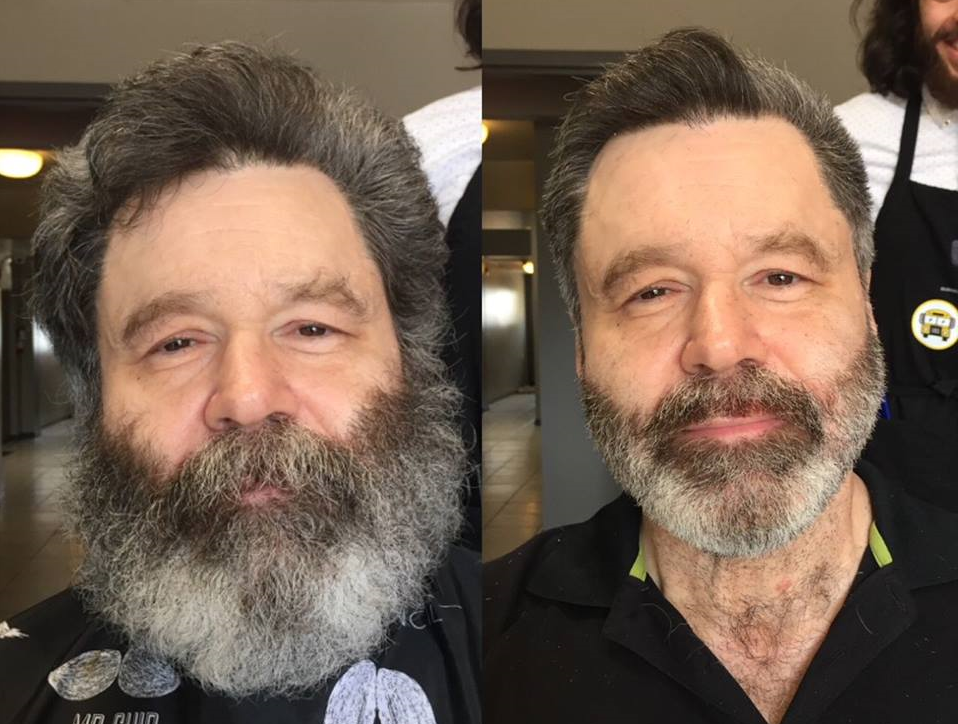 Client before and after haircut.