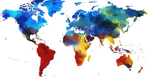 Coloful map of the world.