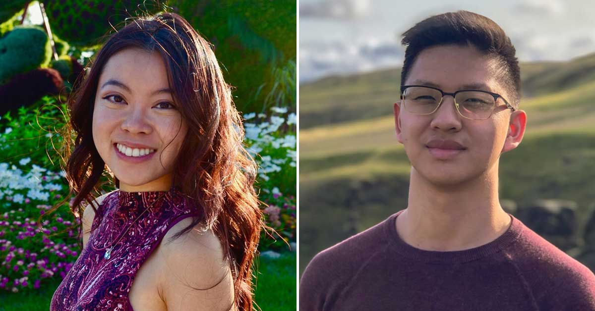 Heidi Li, left, and David Zheng, right.
