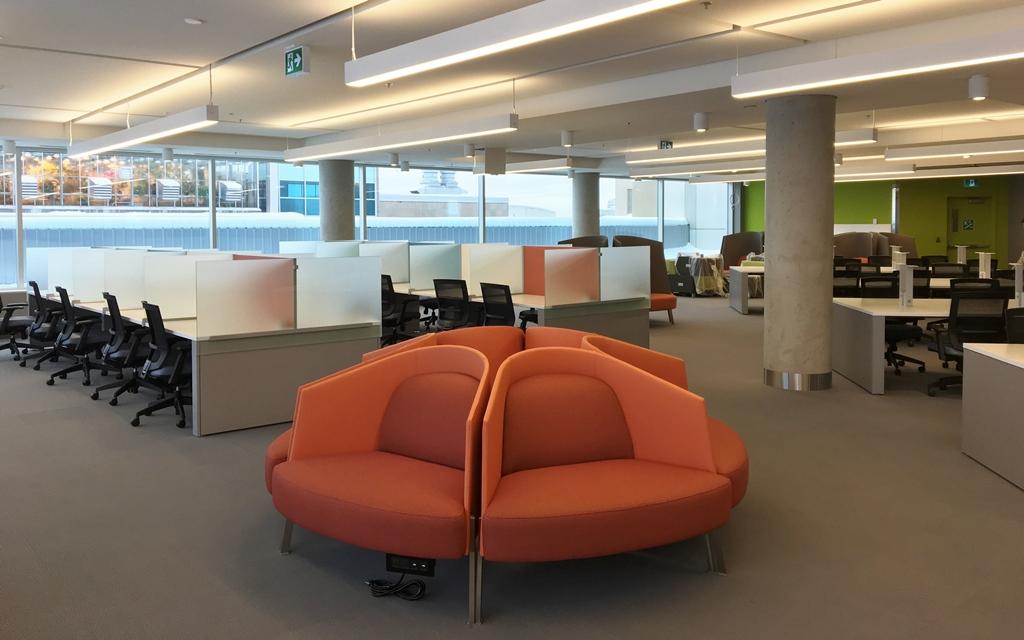 Mobilier dans les espaces de travail.