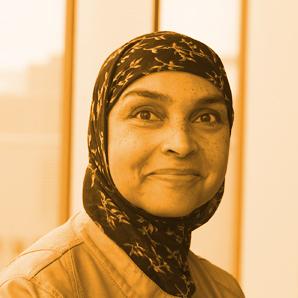 Photo of Ouida Loeffelholz, looking happy