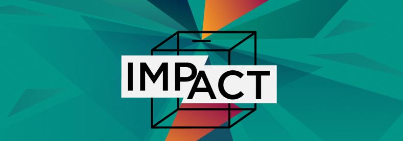 Illustration où est inscrit le mot Impact.