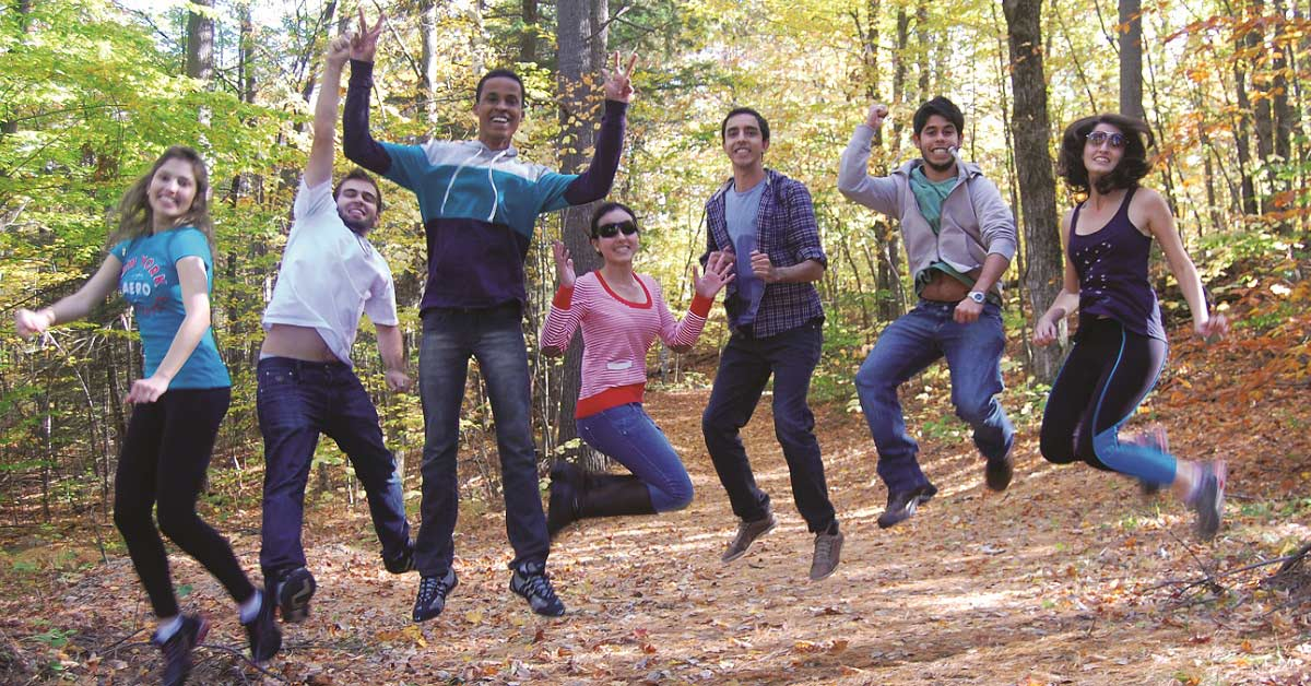 International students on a cultural field trip in Gatineau Park.