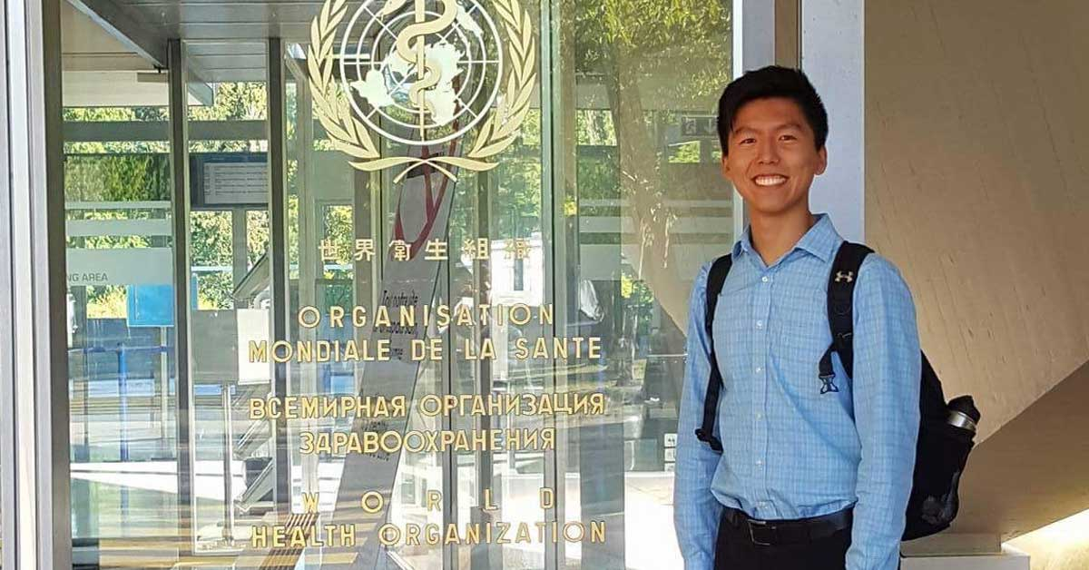 Yipeng Ge at the World Health Organization in Geneva, Switzerland.