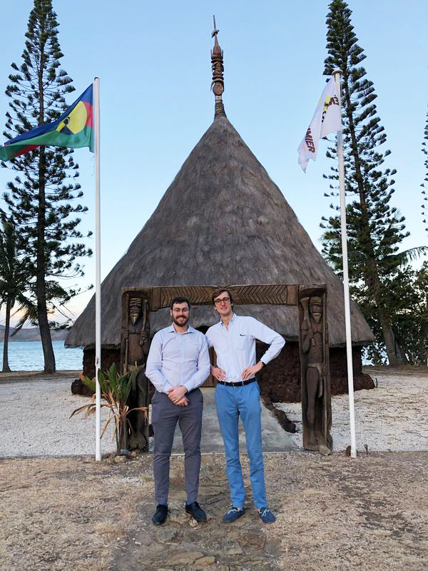 Thomas Burelli and Louis-Romain Riché at the Customary Senate of New Caledonia.