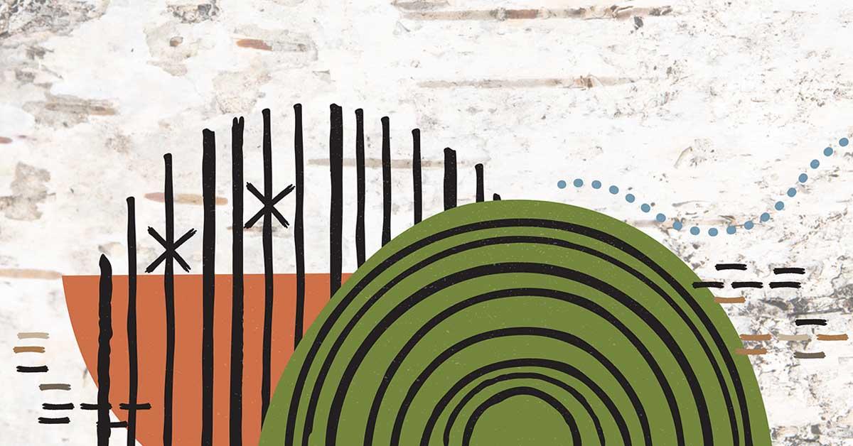 Illustration autochtone abstraite. Photo gracieuseté de Pinock Smith, Algonquin Independent Arts & Craft Professional