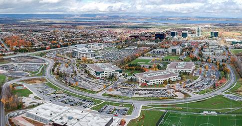 Aerial view of the Kanata-North campus.