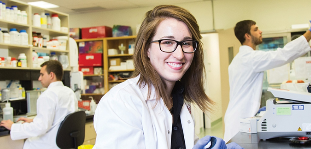 Laura McDonnell in a laboratory.