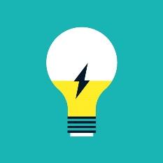 Illustration d'une ampoule électrique.