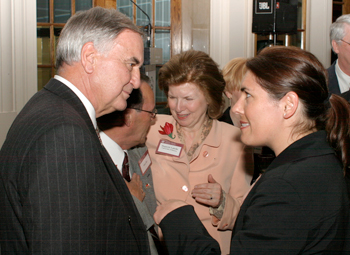 Launch of the 2004 campaign for Canada's university in Montreal. Former Quebec minister (1970 to 1976) Guy Saint-Pierre and Chancellor Huguette Labelle appear on the photo.