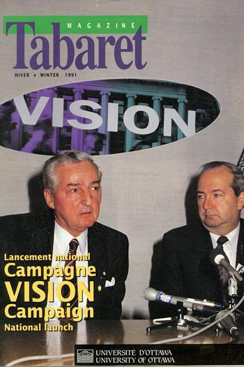 Paul Desmarais on the front cover of Tabaret magazine, 1991 winter edition