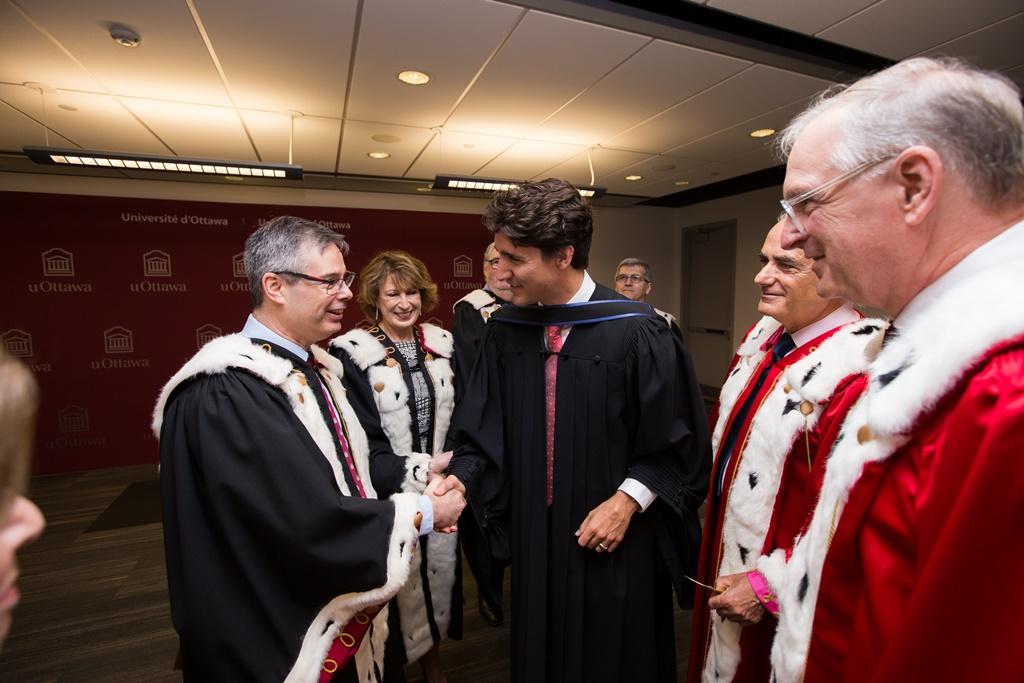 Louis de Melo en compagnie du premier ministre Justin Trudeau.