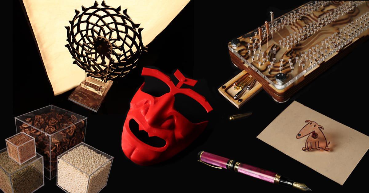 Quelques objets vendus dans la MakerBoutique.