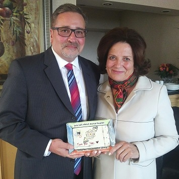 Brian Hansell avec Margaret Trudeau