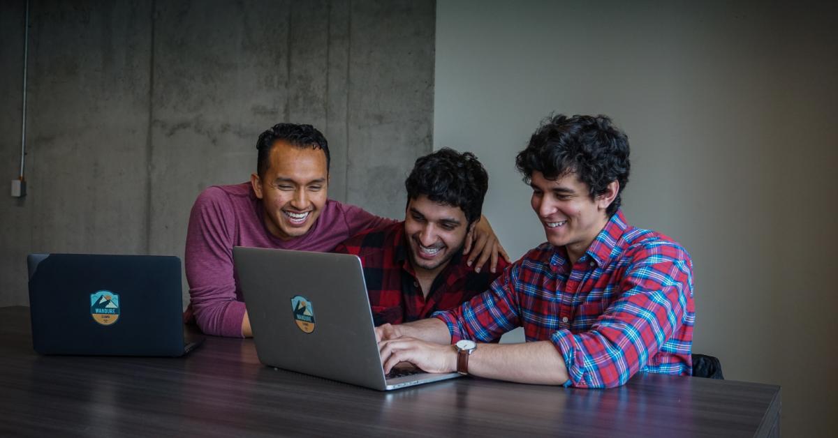 Luis Anacona, Ali Kazal et Ismail Benmbarek, fondateurs de Wandure