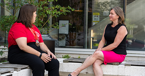 Mélanie Héroux et Virginie Cobigo