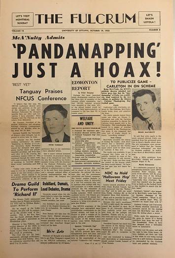 Première page d'un journal.
